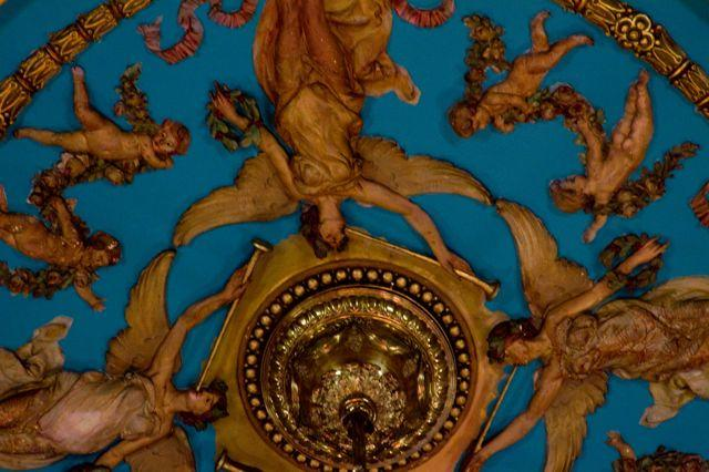 Photo of angels on dome of City Council Caucus Room by Michael Koehler.